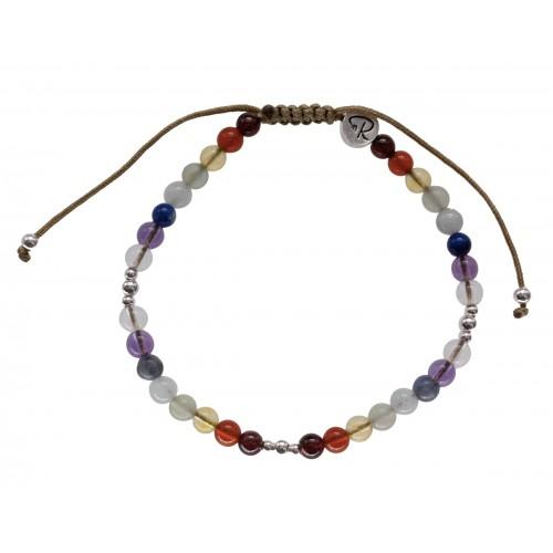 Bracelet 8 Chakras et Argent