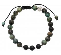 Bracelet en Turquoise d'Afrique et Agate
