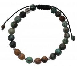 Bracelet de perles en Jade et charms