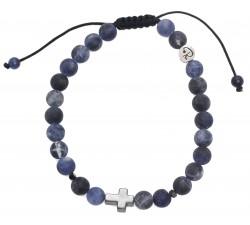 Bracelet Croix en Sodalite