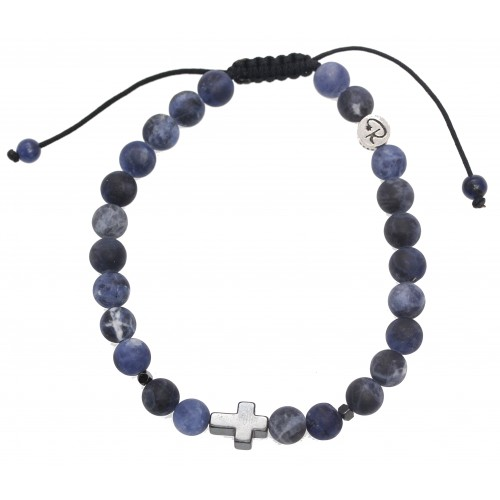 Bracelet Cendre en pierre de lave