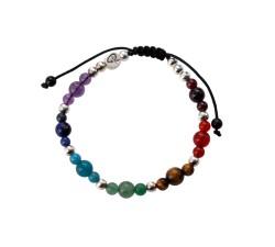 Bracelet Yoga 7 Chakras et Argent
