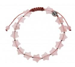 """Bracelet """"Estrella"""" en Quartz Rose et Argent"""