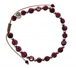 Bracelet Hestia en Grenat et Argent 925