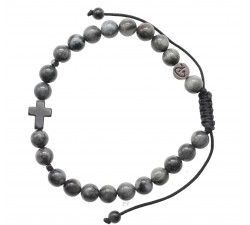 Bracelet Christ en Quartz Oeil de Chat