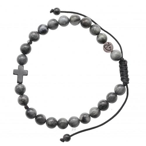 Bracelet Christ en Quartz Oeil de Chat