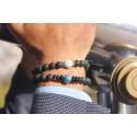 Bracelet «Sakurajima» enJade, Pierre de Lave et Argent 925 – Homme