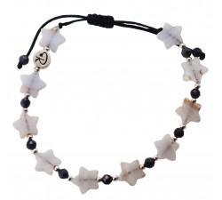 Bracelet Estrella en Agate Blue Lace, Saphir et Argent 925