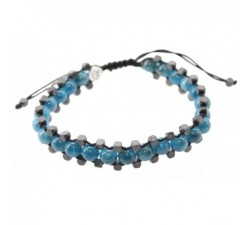 Bracelet Feeling en Apatite et Hématite.