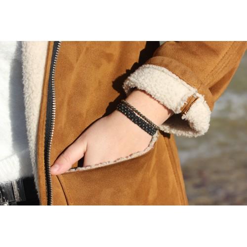 Bracelet New génération Hematite/Howlite