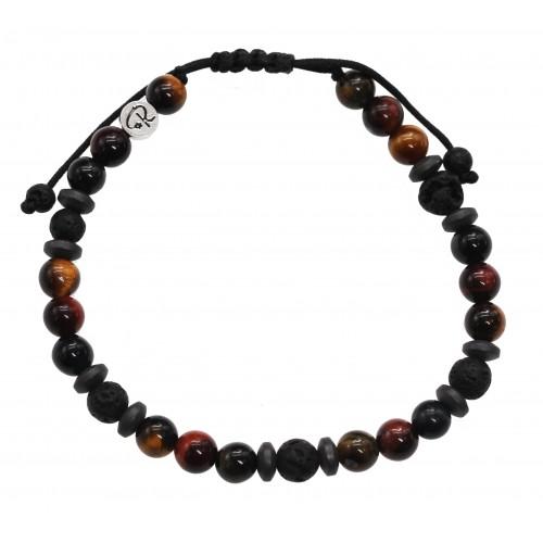 bracelet Evolution Hematite et Argent