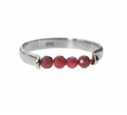 Bague fine en Rhodonite