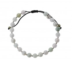 Bracelet Raffiné en Jade Blanc et Argent 925