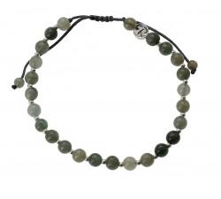Bracelet Raffiné en Jade Vert et Argent 925