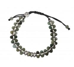 Bracelet Équilibre en Jade Vert et Argent 925