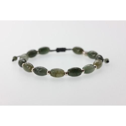 Bracelet Viking en jade blanc