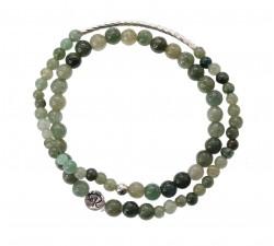 Bracelet Virage en Jade Vert et Argent 925