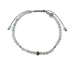 Bracelet Trèfle en Jade et Argent 925