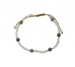 Bracelet Quinta en Jade Blanc, Vert et Argent 925