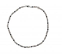 Bracelet Zenitude en agate et jaspe paysage gris