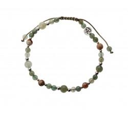 Bracelet Terra en Jade, Jaspe Paysage et Argent 925