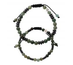 Bracelets de couple en Jade et Hématite