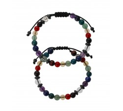 Bracelets de couple 8 Chakras