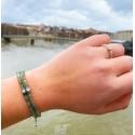 Bracelet Elegance en jade vert