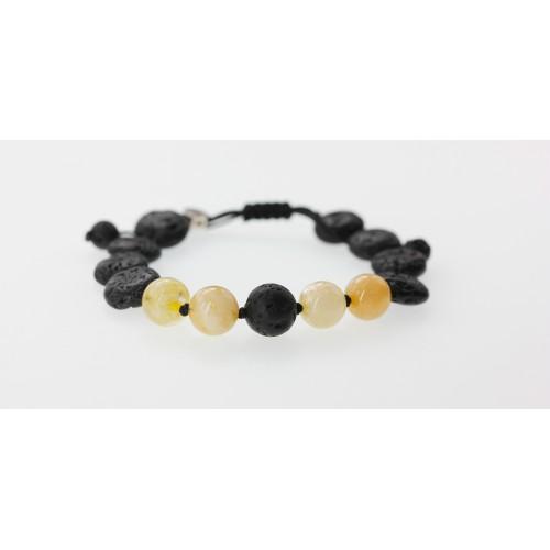 Bracelet New génération Hematite/Quartz Rose