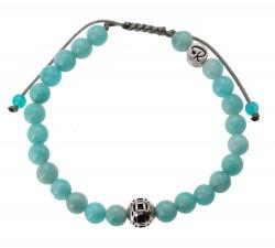 Bracelet Deep facetté en Turquoise