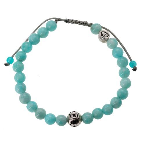 Bracelet en Amazonite et Argent 925