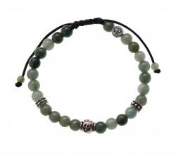 Bracelet en Jade vert et Argent 925 Homme