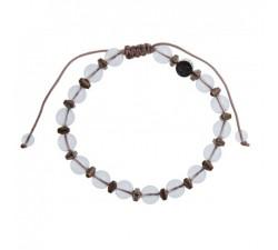 Bracelet Esprit Cristal de Roche - Hématite