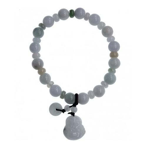 Bracelet de perles en Jade et charms Bouddha