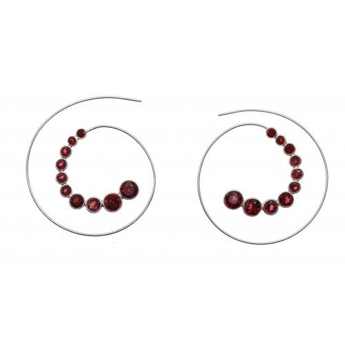 Boucles d'oreille Spirale en Argent 925