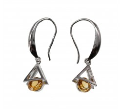 Boucles d'oreille Triangle en Pierre Naturelle et Argent 925