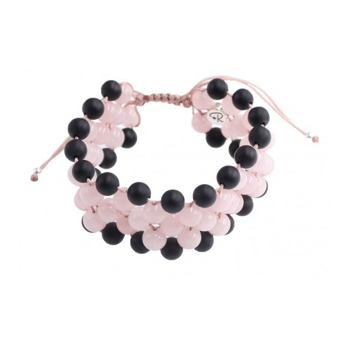 Bracelet sérénité en Quartz Rose et Agate