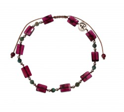 Bracelet Vitalité en Grenat, Turquoise africaine et Argent 925