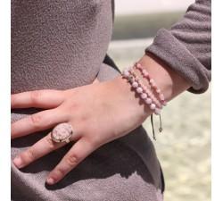 Bracelet Inconditionnel en Quartz Rose et Rhodonite