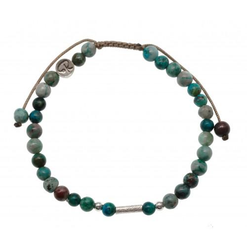 Bracelet Uriel - Chrysocolle et Argent 925