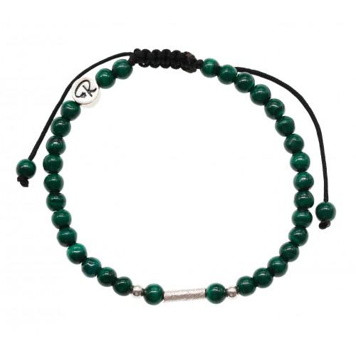 Bracelet Uriel - Malachite et Argent 925